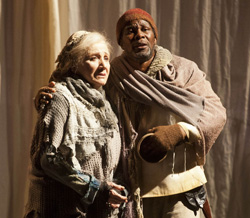 Olympia Dukakis and John Douglas Thompson. Photo by Kevin Sprague.