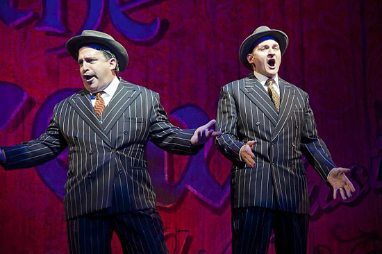 Hilarious: the two gangsters played by Carlos Lopez and Michael Dean Morgan. Photo by Kevin Sprague