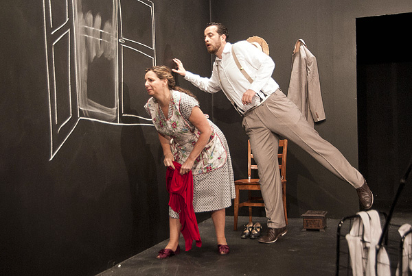 """Working on A Special Day Barrington Stage Company Based on """"Una Giornata Particolare"""" by Ettore Scola & Ruggero Maccari and Adapted by Gigliola Fantoni Translated by Danya Taymor, Ana Graham & Antonio Vega  Photos by Kevin Sprague"""