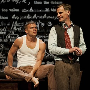 Jefferson Farber and Mark H. Dold in Breaking the Code. Kevin Sprague photo.
