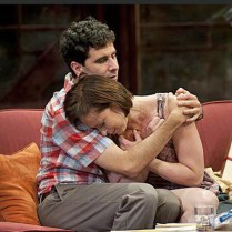 """John Cariani (l) and Paige Davis (r) in """"Dancing Lessons. Photo by Kevin Sprague"""