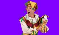 Jack Point (a strolling jester), played by Jonathan Klate.
