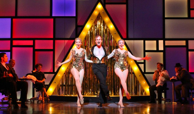 James Ludwig (center) in Bells Are Ringing at Berkshire Theatre Group. Photo by Reid Thompson.