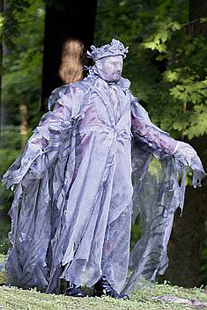 Colin Gold as the Ghost of the King of Denmark. Photo by Elizabeth Aspenlieder