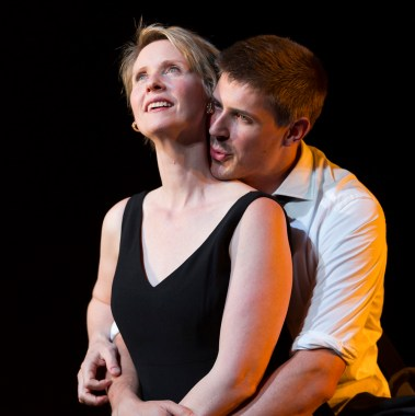 (l to r) Cynthia Nixon (She) and Chris Lowell (He). Photo by T. Charles Erickson