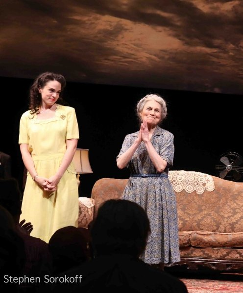 A wonderful photo of the curtain call with Paula Jon DeRose and Lynn Cohen from the intrepid Stephen Sorokoff.