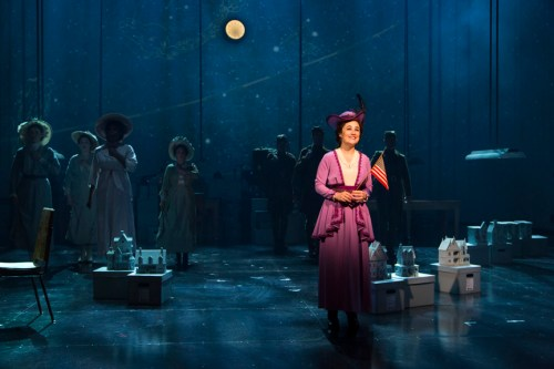 Lauren Worsham (Lucy Lemay) and cast. Photograph T. Charles Erickson.