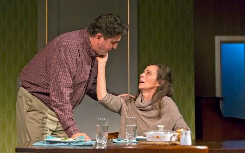 (l to r) Alfred Molina and Jane Kaczmarek. Photograph T. Charles Erickson.