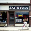 The locals love Jack's, and the barber shop next door is what small towns are all about.