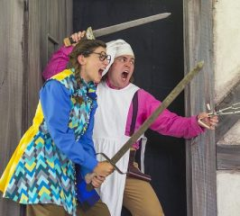 Kaileela Hobby and Colin Gold. The Emperor of the Moon. Shakespeare & Company 2016. Photo by Ava G. Lindenmaier.