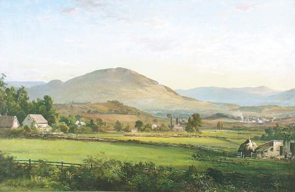 A 19th century painting of Manchester, VT.
