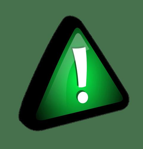 grünes Ausrufezeichen