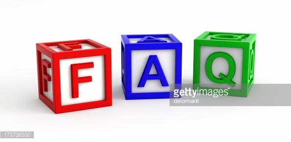 zeigt die Buchstaben FAQ