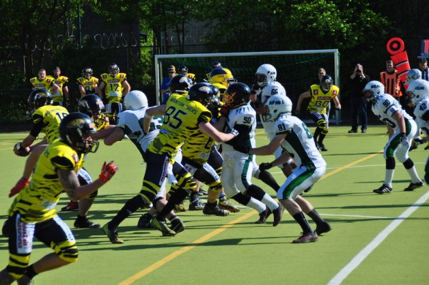Bullets vs Mountain Tigers Männer 07.05.2017 Spielszene Defense