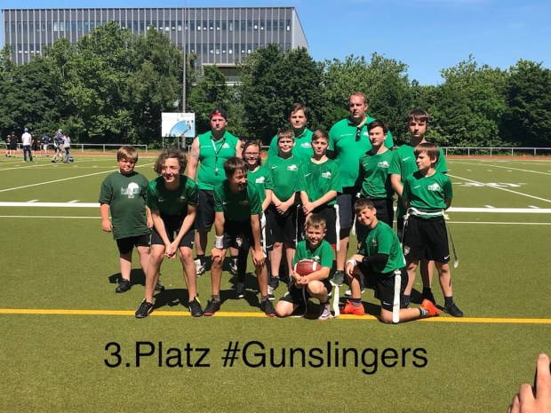 Teamfoto Bears Junior Flag Bowl 2018 Platz 3 #Gunslingers weboptimiert