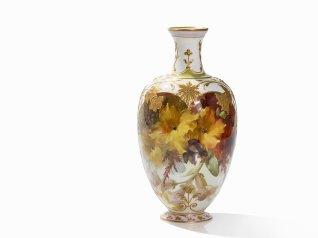 KPM Berlin Vase mit Weichmalerei um 1905.