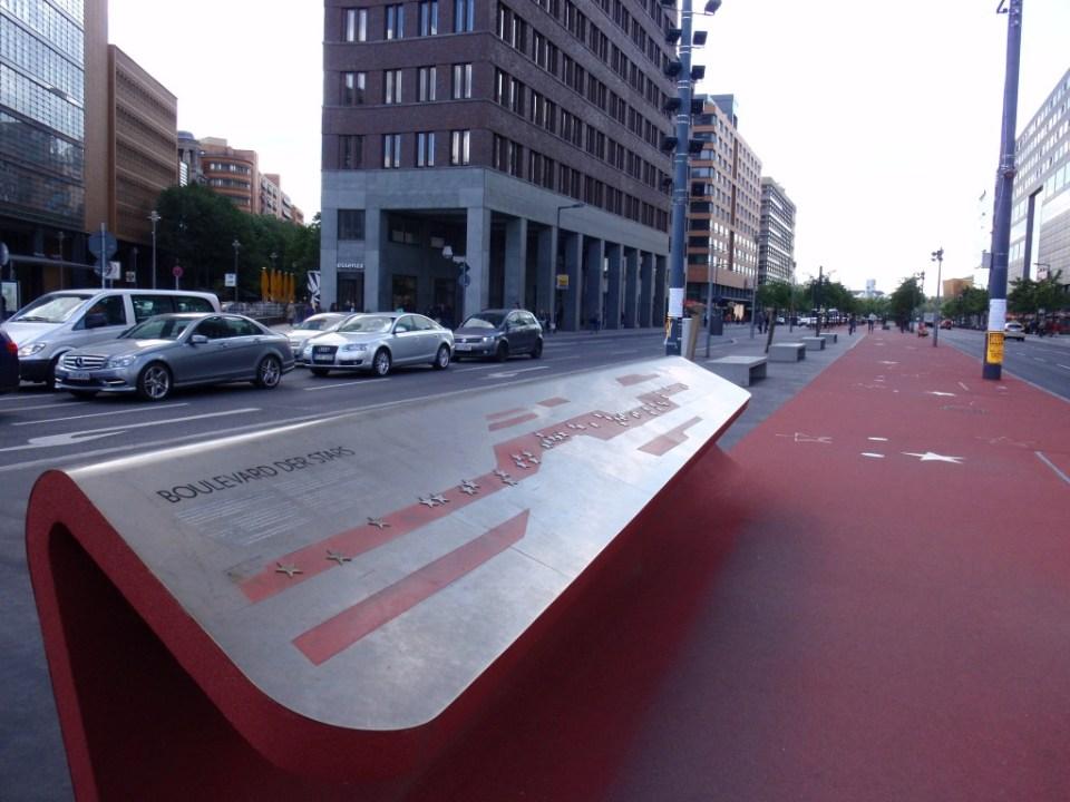 Berlins Walk of Fame ved Potsdamer Platz