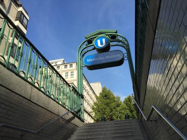 U-Bahnstation Märkisches Museum. Foto: Kirsten Andersen