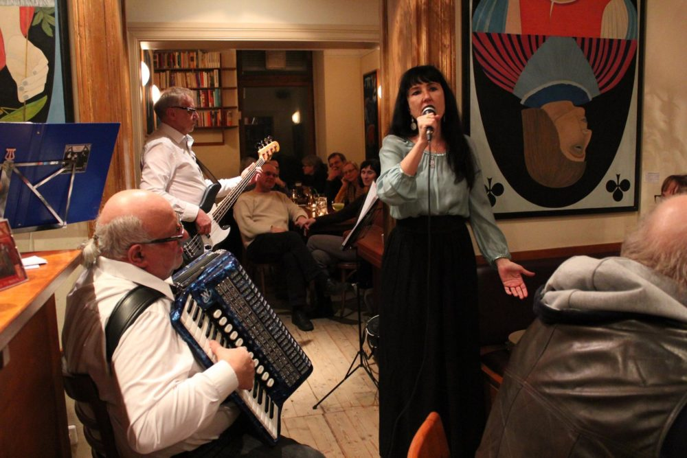 """09.12.2017, 19:30 Uhr - Klezmer Konzert """"KlezBanda - Klezmer und jiddische Lieder"""" Stanislav Tim, Jossif Gofenberg, Eduard Scharlak und Anna Metaxa"""