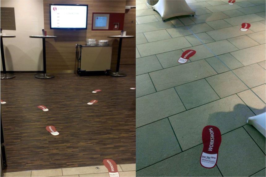 Fußbodenaufkleber nach Datei