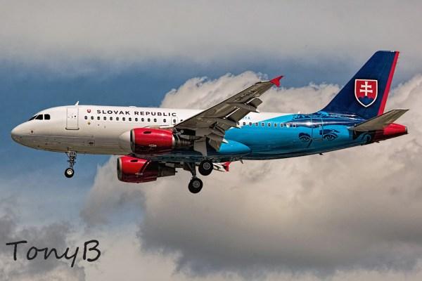 Slowakei Airbus A319CJ OM-BYA