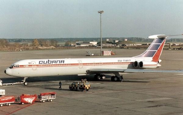 Il-62M der Cubana in Berlin-Schönefeld (© A. T. Gardiner)