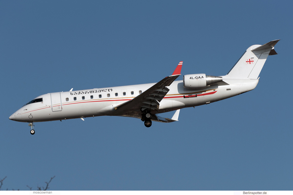 Airzena Georgian Airways Bombardier Challenger 850 4L-GAA