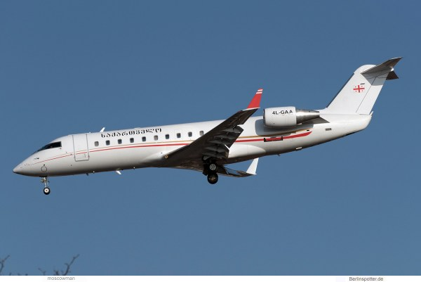 Airzena Georgian Airways Bombardier Challenger 850 4L-GAA (TXL 16.2. 2017)