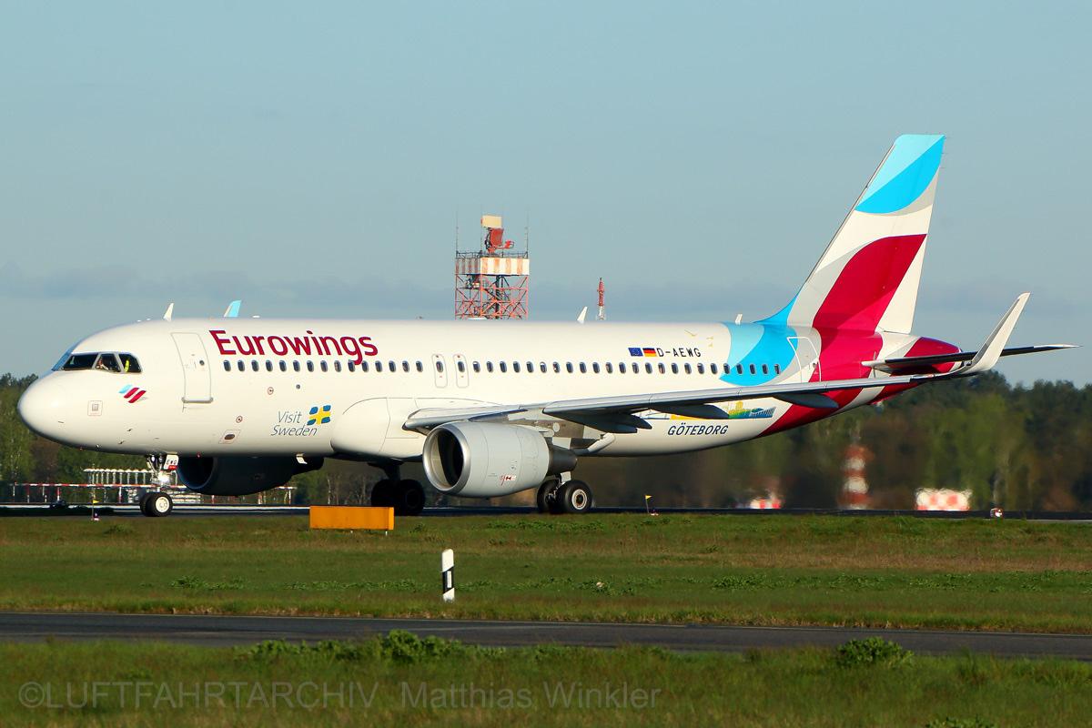 Eurowings Airbus A320-200(SL) D-AEWG