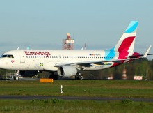 Eurowings, Airbus A320-200 D-AEWG, Visit Sweden/Göteborg-Sticker (TXL 19.4. 2017)