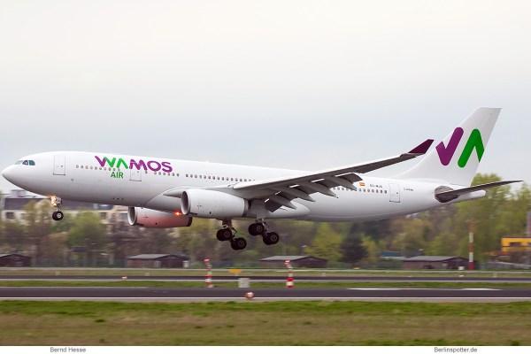 Wamos Air, Airbus A330-200 EC-MJS (TXL 16.4. 2017)