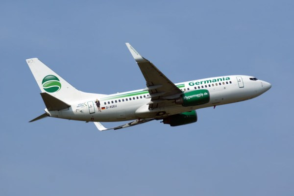 Boeing 737-700 der Germania (© O. Pritzkow)