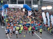 Beim 11. Airport Night Run (in diesem Jahr sponsered by Securitas) gingen insgesamt 6.564 Teilnehmerinnen und Teilnehmer an den Start. (© FBB)