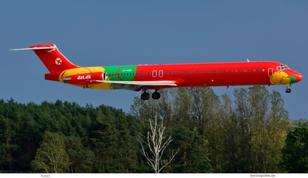 Danish Air Transport, McDonnell-Douglas MD-83 OY-RUE (SXF 21.8. 2017)
