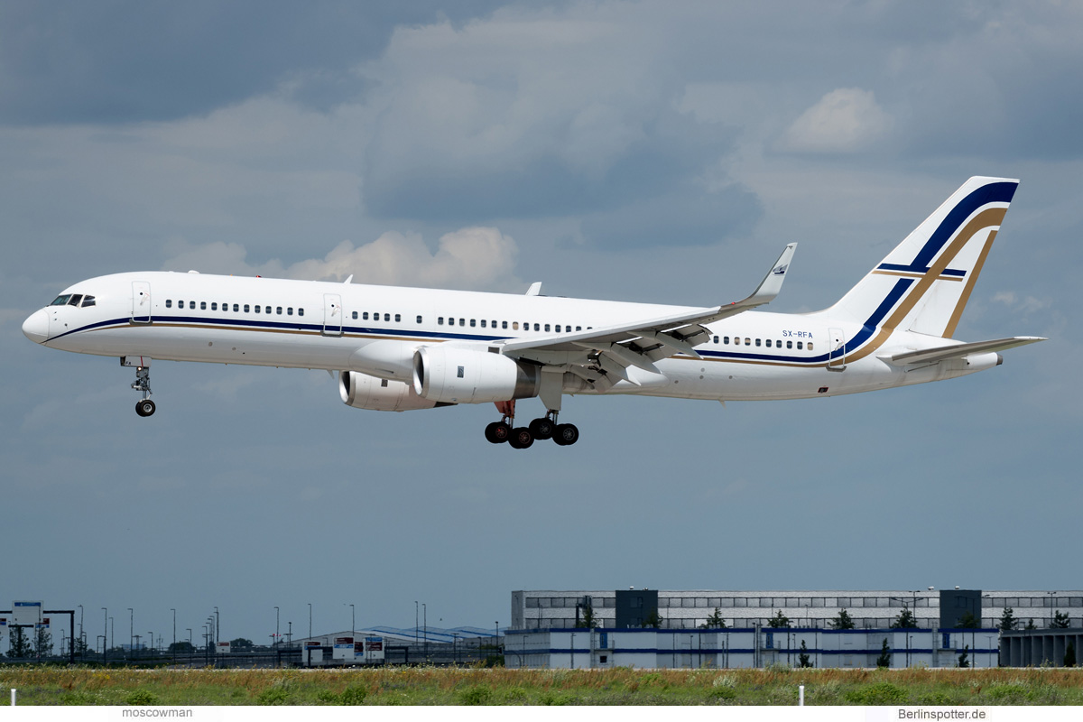 GainJet Boeing 757-200(WL) SX-RFA