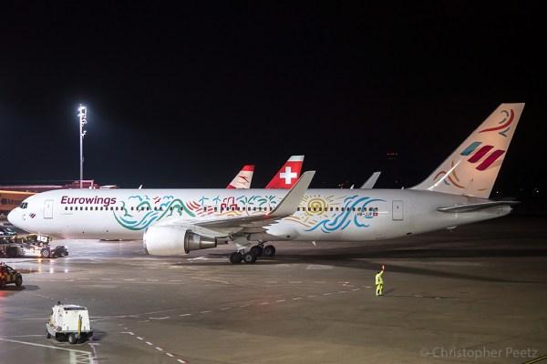 Eurowings Boeing 767-300ER(WL) HB-JJF (TXL 14.11. 2017)