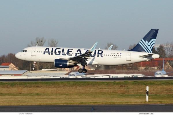 Aigle Azur Airbus A320-200(SL) F-HBIX (TXL 26.12. 2017)
