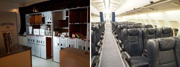 Flugzeugmöbel als Event-Küche oder Sitze als Filmkulisse - alles ist möglich! (© Wingdesign)