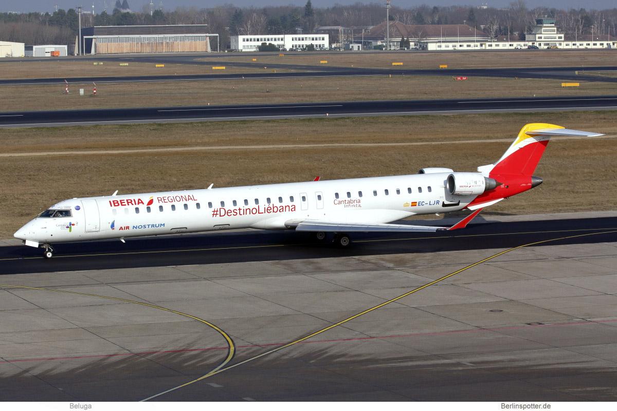 Air Nostrum – Iberia Regional Bombardier CRJ1000 EC-LJR