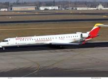 Air Nostrum – Iberia Regional, Bombardier CRJ1000 EC-LJR (TXL 7.2. 2018)
