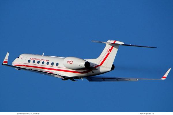 Polish Gvmt (Polish Air Force) Gulfstream G550 '0002' (TXL 12.2. 2018)