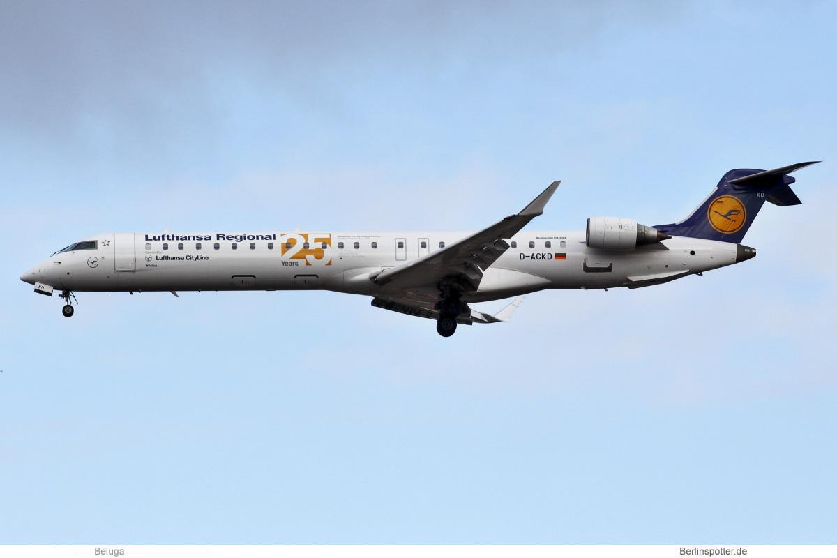 Lufthansa CityLine Bombardier CRJ-900LR D-ACKD