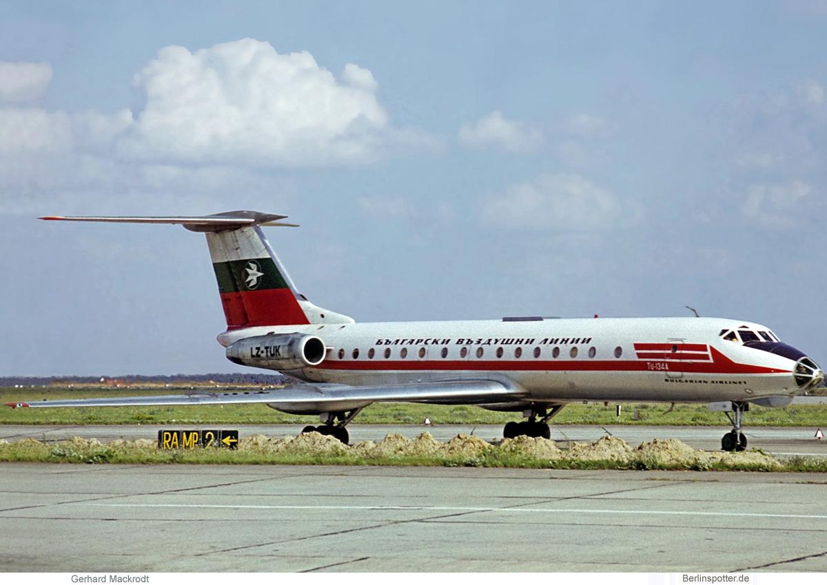 Balkan Bulgarian Airlines, Tupolev Tu-134A LZ-TUK