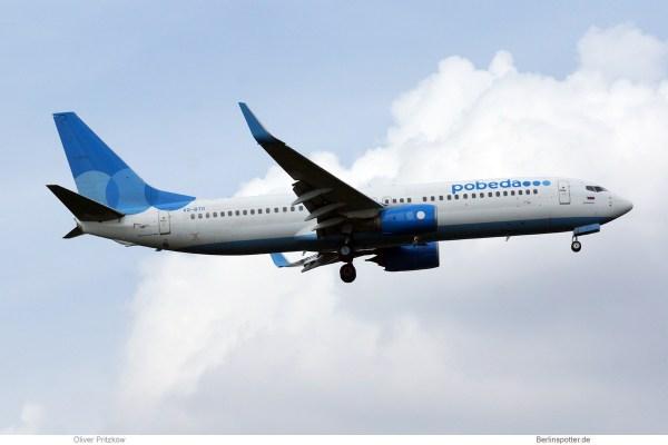 Pobeda, Boeing 737-800(WL) VQ-BTG (TXL 10.5. 2018)
