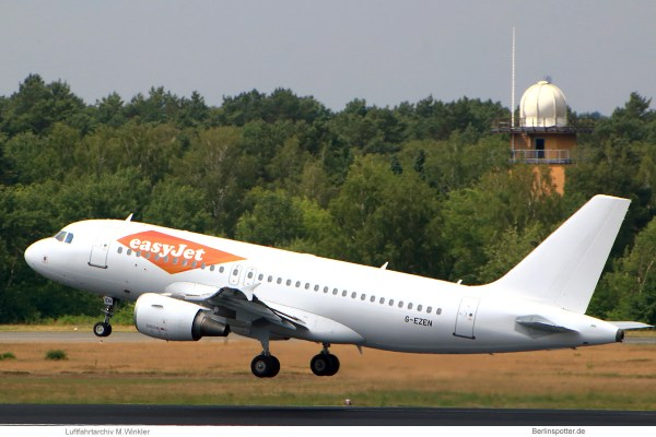 easyJet, Airbus A319-100 G-EZEN (TXL 17.6. 2018)