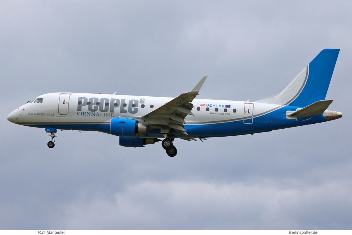 People's Viennaline Embraer 170 OE-LMK