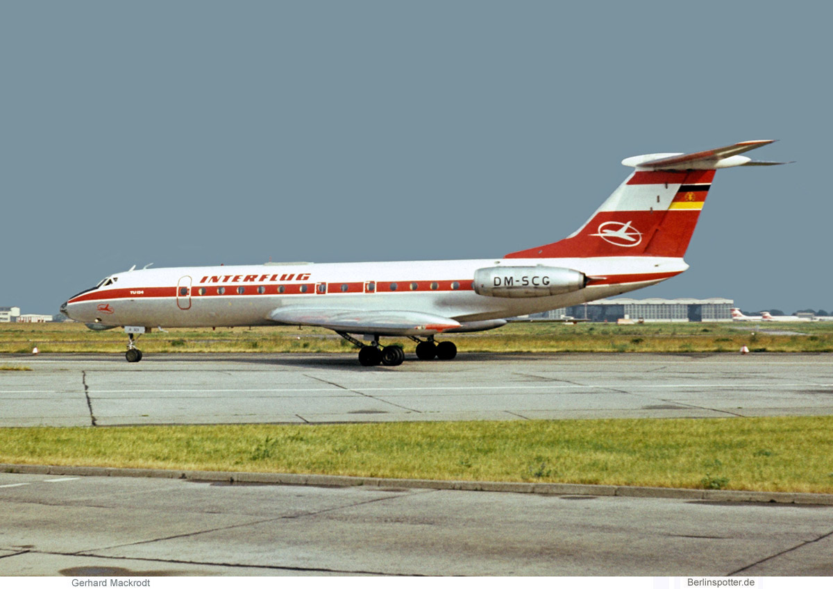 Interflug Tupolev Tu-134 DM-SCG