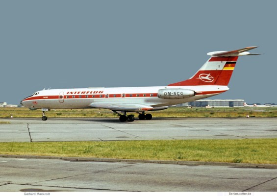 Interflug, Tupolev Tu-134 DM-SCG (SXF 07/1973)