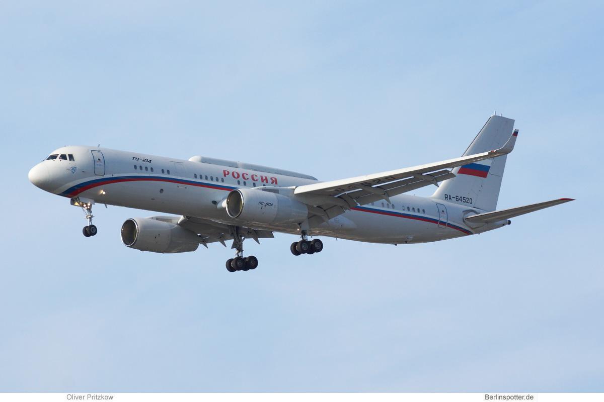 Rossiya Tupolev Tu-214PU RA-64520