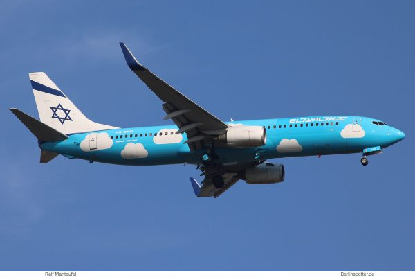 El Al, Boeing 737-800 4X-EKO, basic UP cs. (SXF 4.9. 2018)